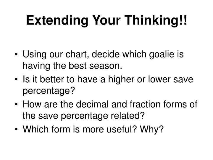 Extending Your Thinking!!