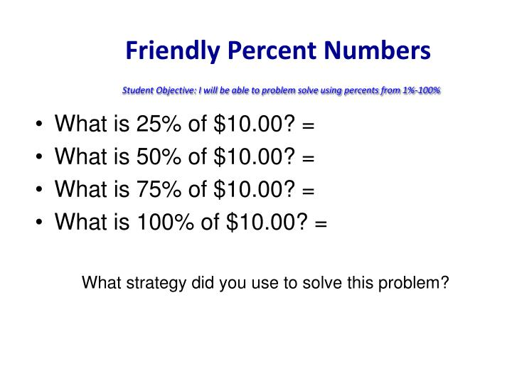 Friendly Percent Numbers