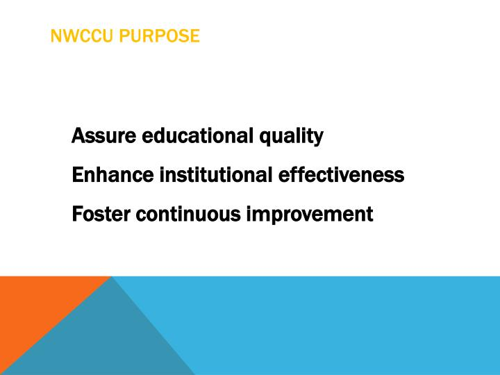 NWCCU Purpose