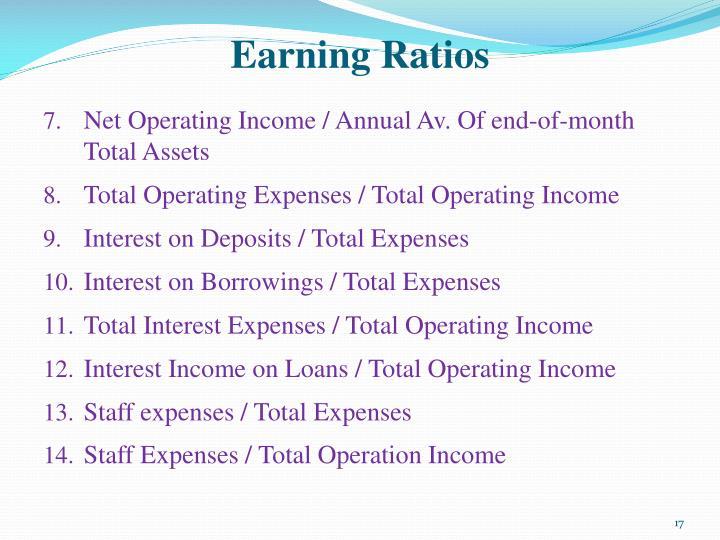 Earning Ratios