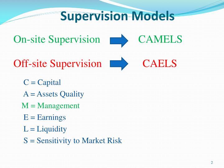 Supervision models