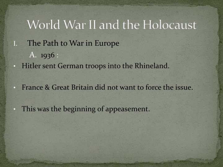 world war ii and the holocaust n.