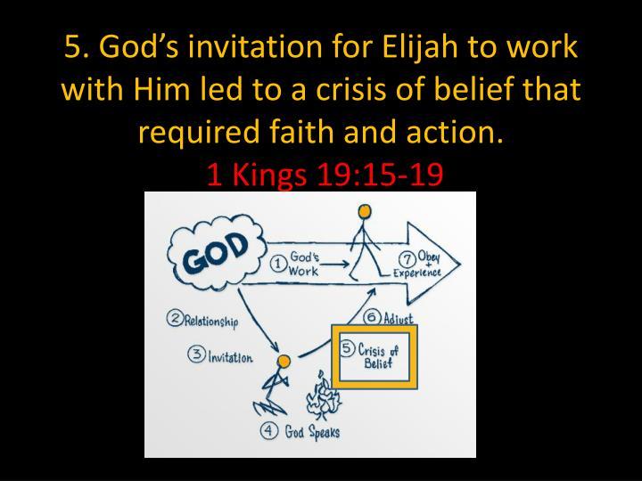 5. God's invitation for