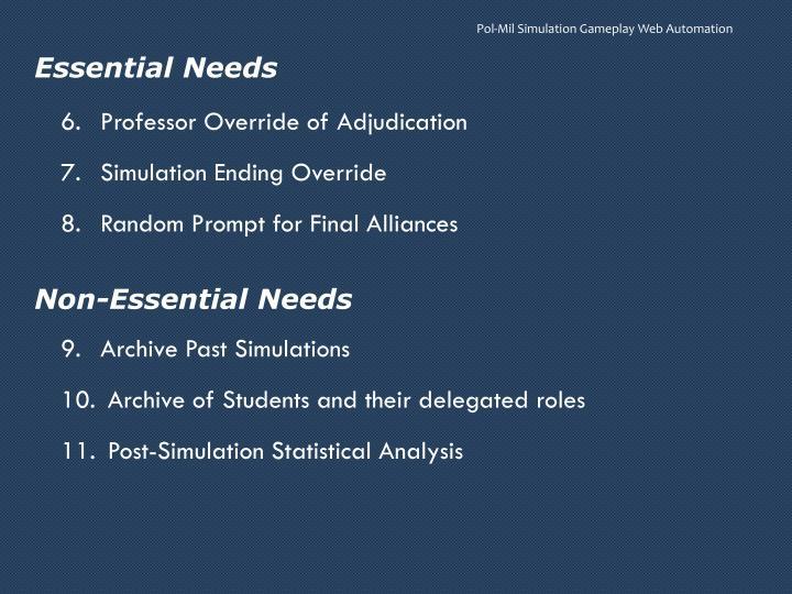 Essential Needs