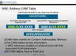 mac address cam table