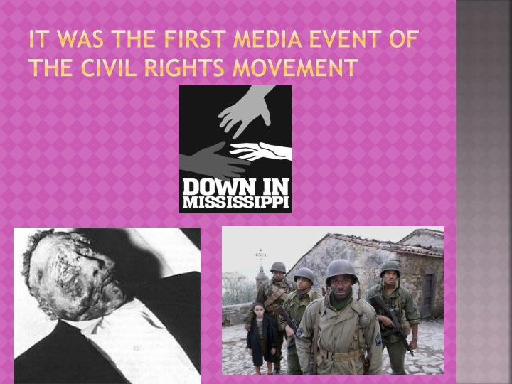 It was the first media event of the civil rights movement