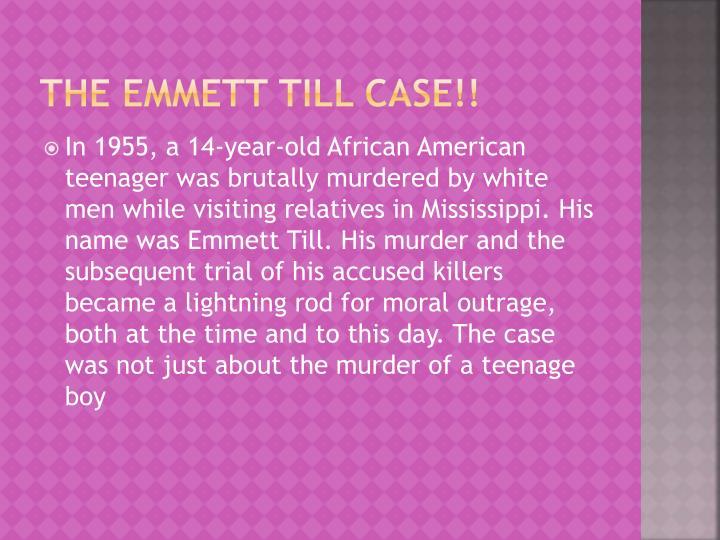 The emmett till case