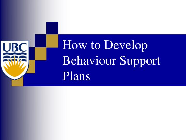 How to develop behaviour support plans