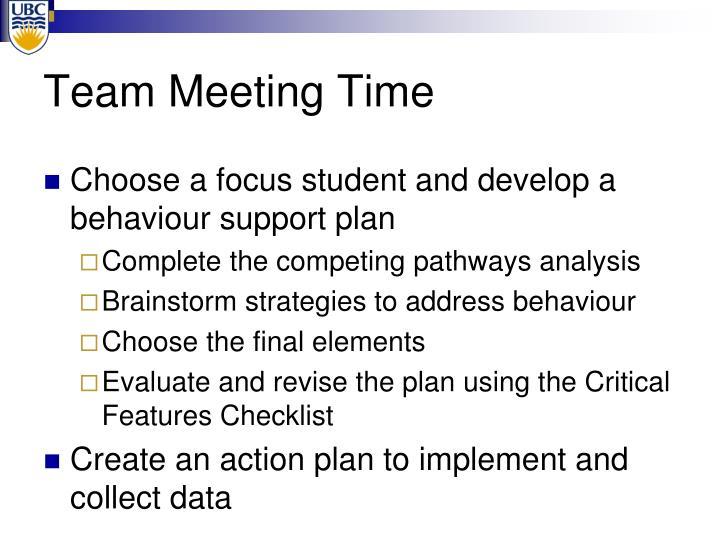 Team Meeting Time