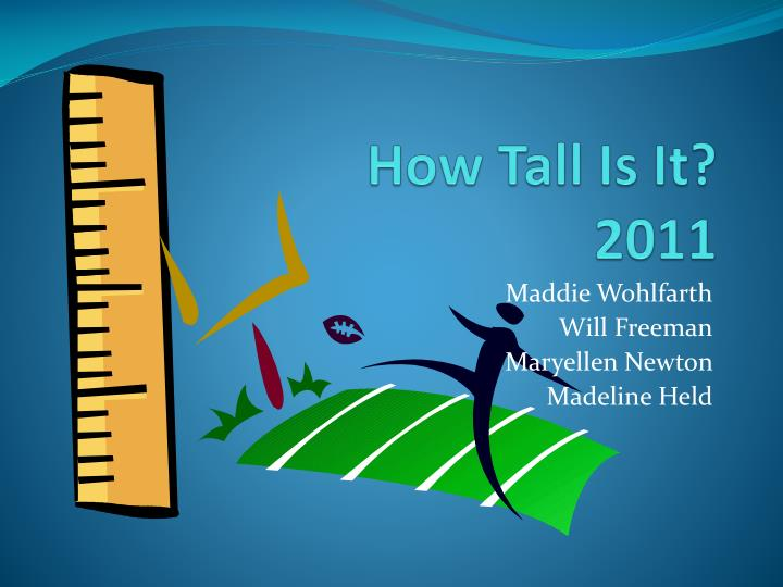 how tall is it 2011 n.
