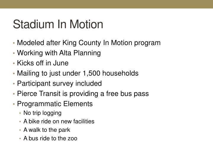 Stadium In Motion