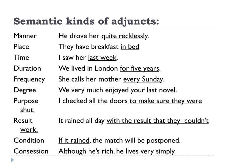 Semantic kinds of