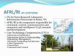 afrl ri an overview