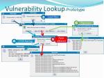 vulnerability lookup prototype