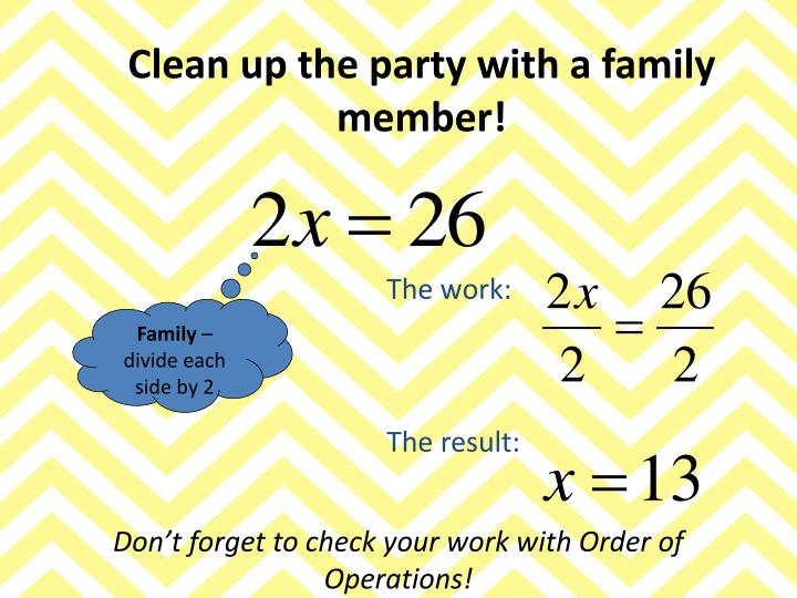 Clean up the party