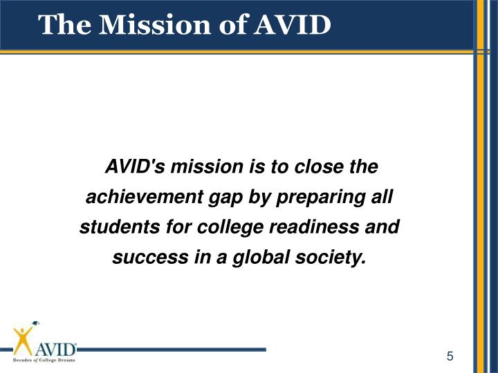 The Mission of AVID