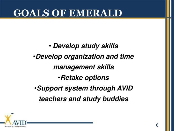 GOALS OF EMERALD