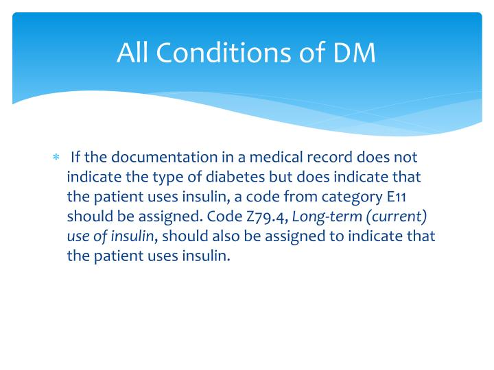 All Conditions of DM