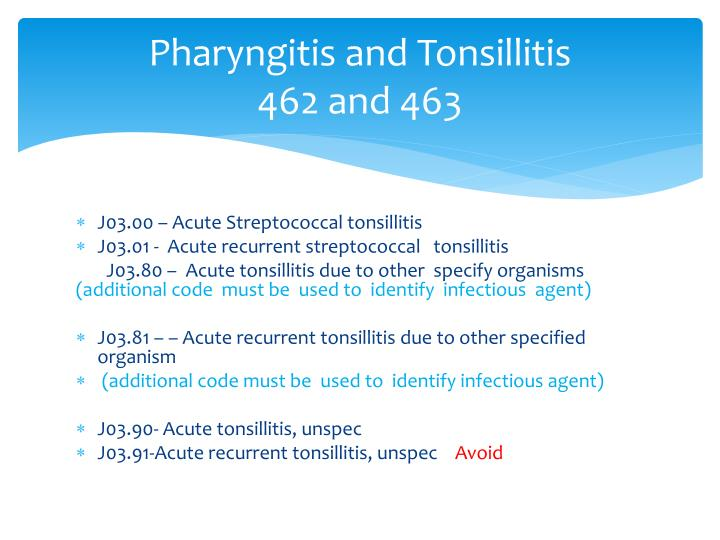 Pharyngitis and