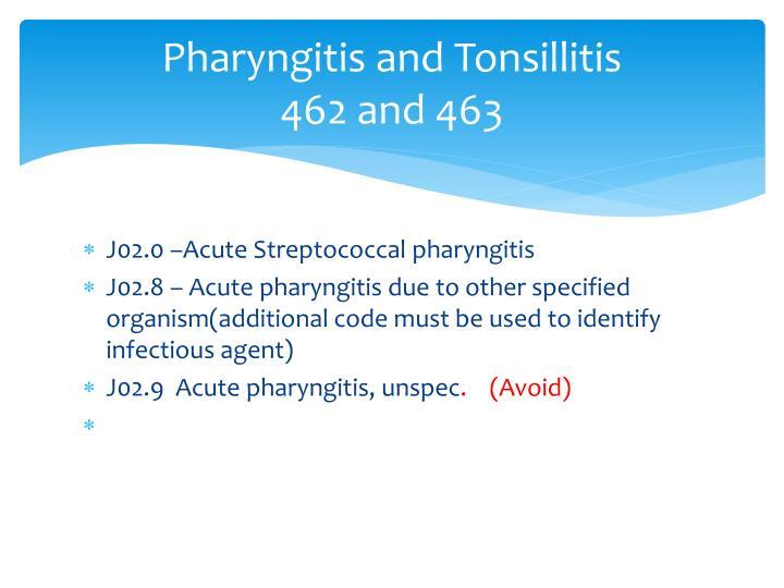 Pharyngitis and Tonsillitis