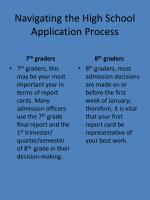 navigating the high school application process