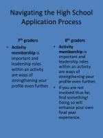 navigating the high school application process1