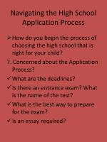 navigating the high school application process10