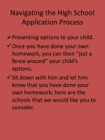 navigating the high school application process11