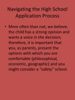 navigating the high school application process12