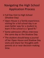 navigating the high school application process14
