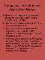 navigating the high school application process4