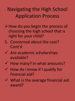navigating the high school application process8