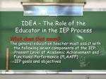 idea the role of the educator in the iep process2