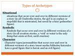 types of archetypes
