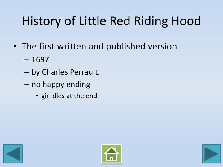 History of Little Red Riding Hood