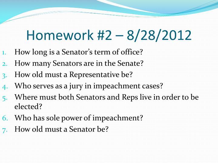 Homework #2 – 8/28/2012