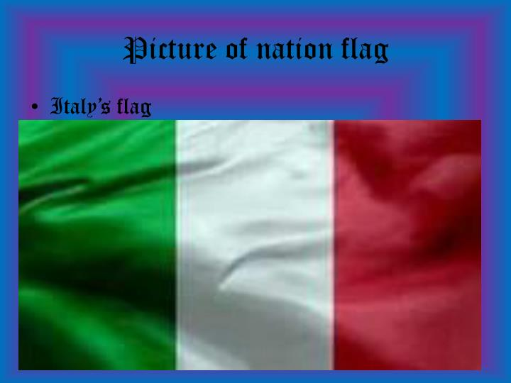 Picture of nation flag
