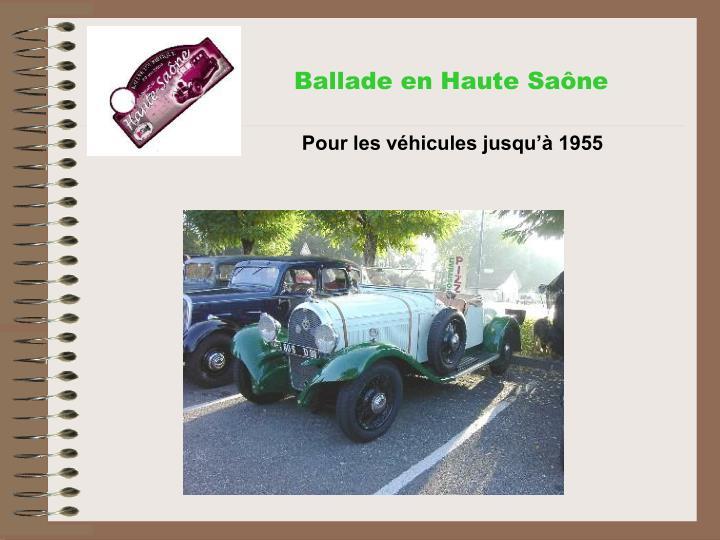 Ballade en Haute Saône