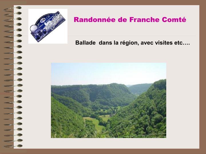 Randonnée de Franche Comté