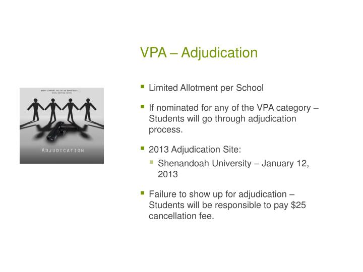 VPA – Adjudication
