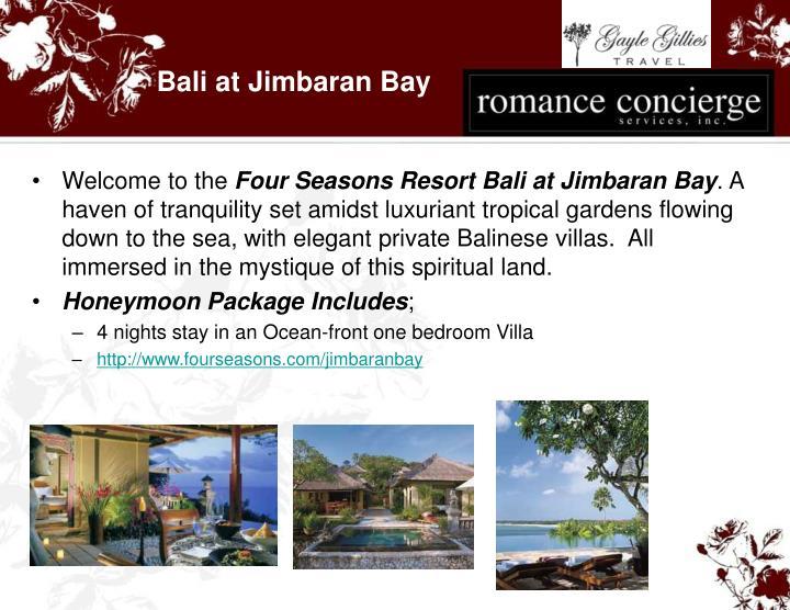 Bali at Jimbaran Bay