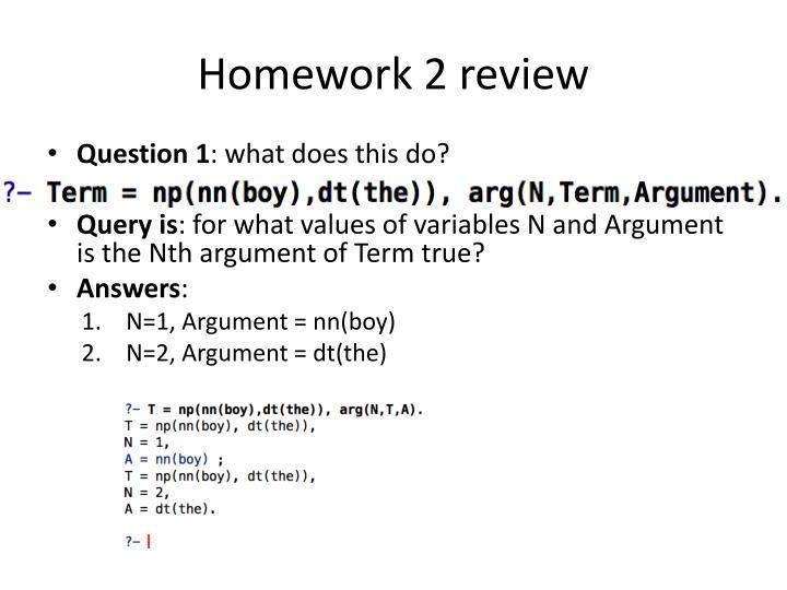 Homework 2 review