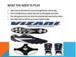 what you need to play