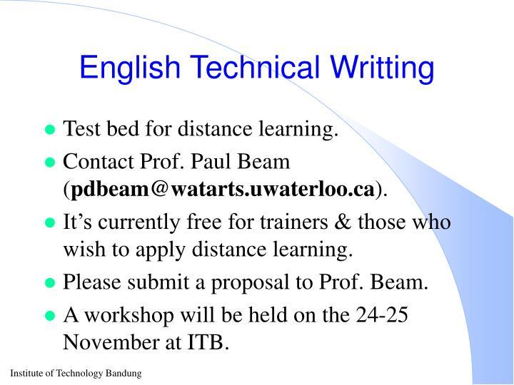 English Technical Writting