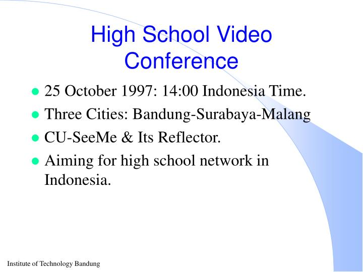 High School Video Conference