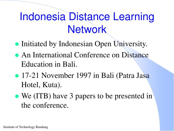 Indonesia Distance Learning Network