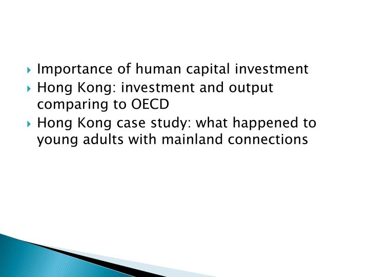 Importance of human capital investment