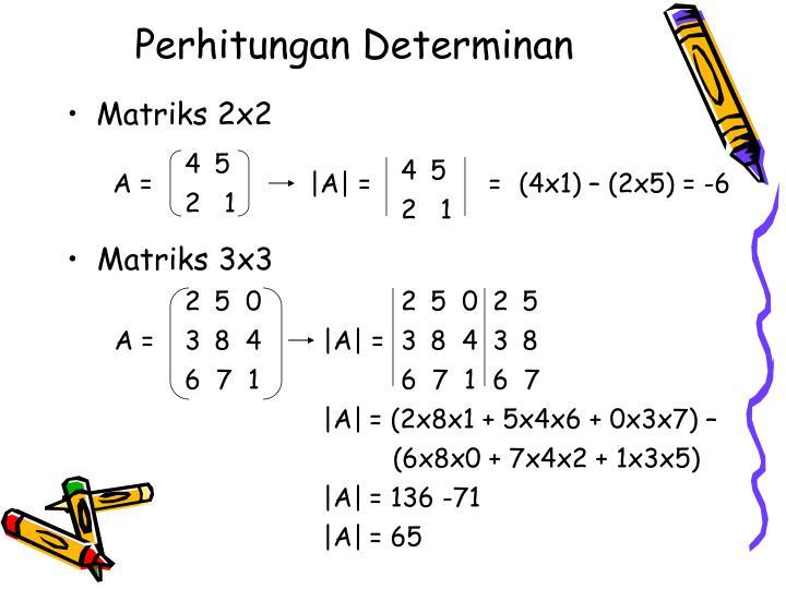 Perhitungan determinan