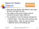 bases for rates distance