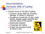 documentation domestic bills of lading2
